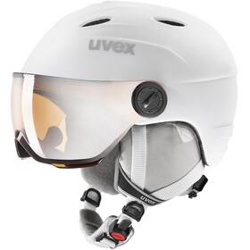 UVEX Junior Visor Pro Helm Kinderen, wit